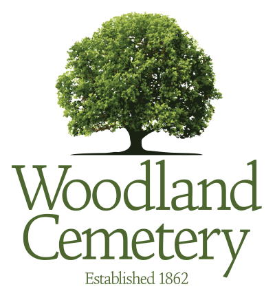 the Woodland Cemetery Logo