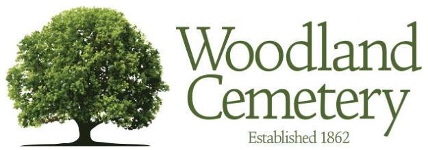 the Woodland Cemetery Logo